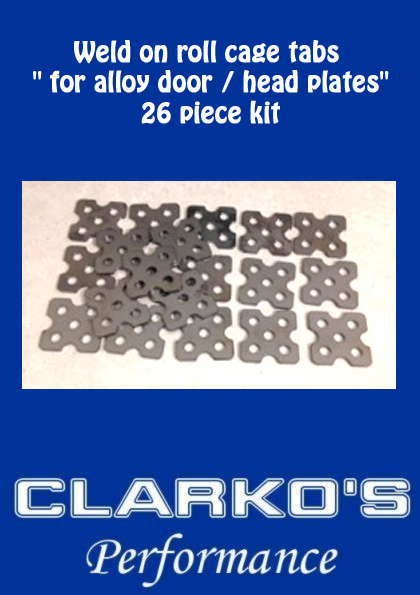 Weld on roll cage tabs Delux ( 26 piece kit)